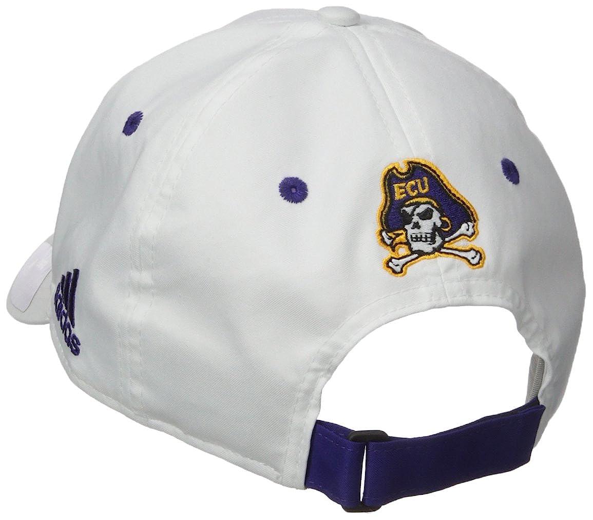 One Size NCAA East Carolina Pirates Adult Men Fanwear Structured Adjustable White
