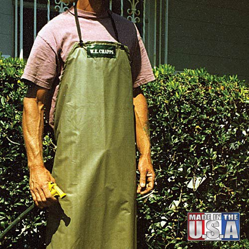 AM Leonard CWA05 Heavy-Duty 15 Mil Butyl Chemical Wash Apron - 36 Inch Waist, 46 Inch Length Green
