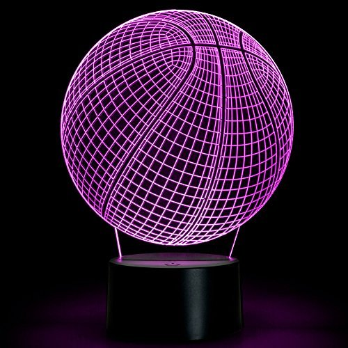 Basketball 3D Lamp | Night Led Light | 7 Colors Changing Touch Switch | Table Desk Decoration Lamps for Bedroom&Office | Optical Illusion Lamp | Perfect Gift: Light a Smile on your Loved Ones Face