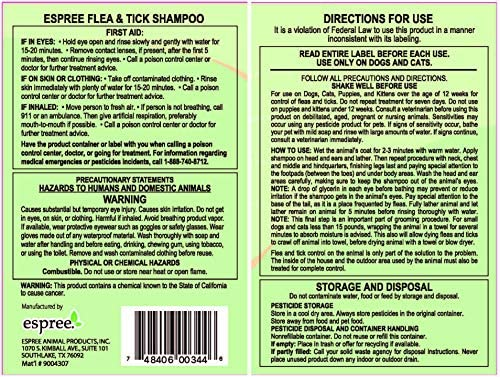 Espree Flea & Tick Shampoo for Pets