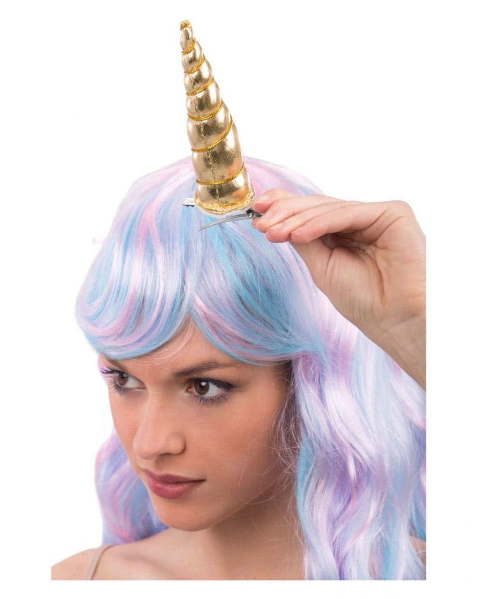 Horror-Shop peluca del unicornio con el cuerno: Amazon.es: Juguetes y juegos