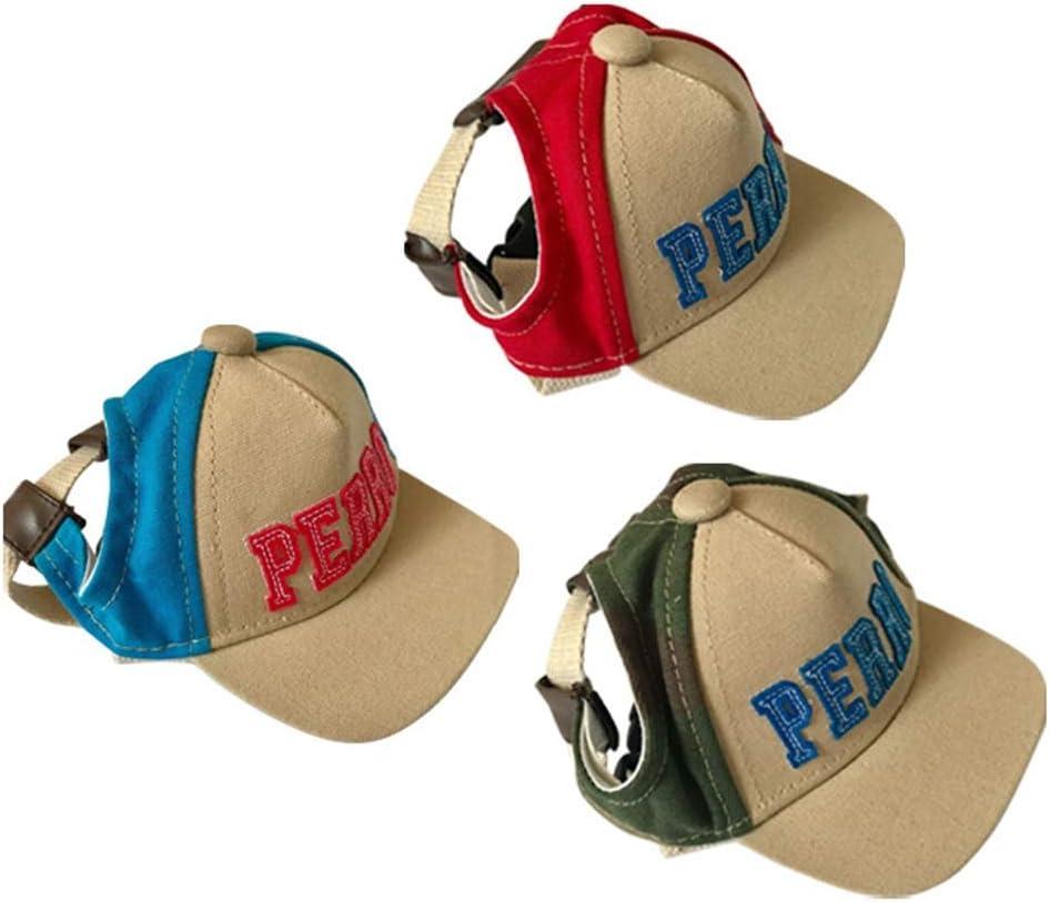 Sunscreen Teddy Casual Sun Hat Pet Hat Color : Blue, Size : S Baseball Canvas Pet Cap