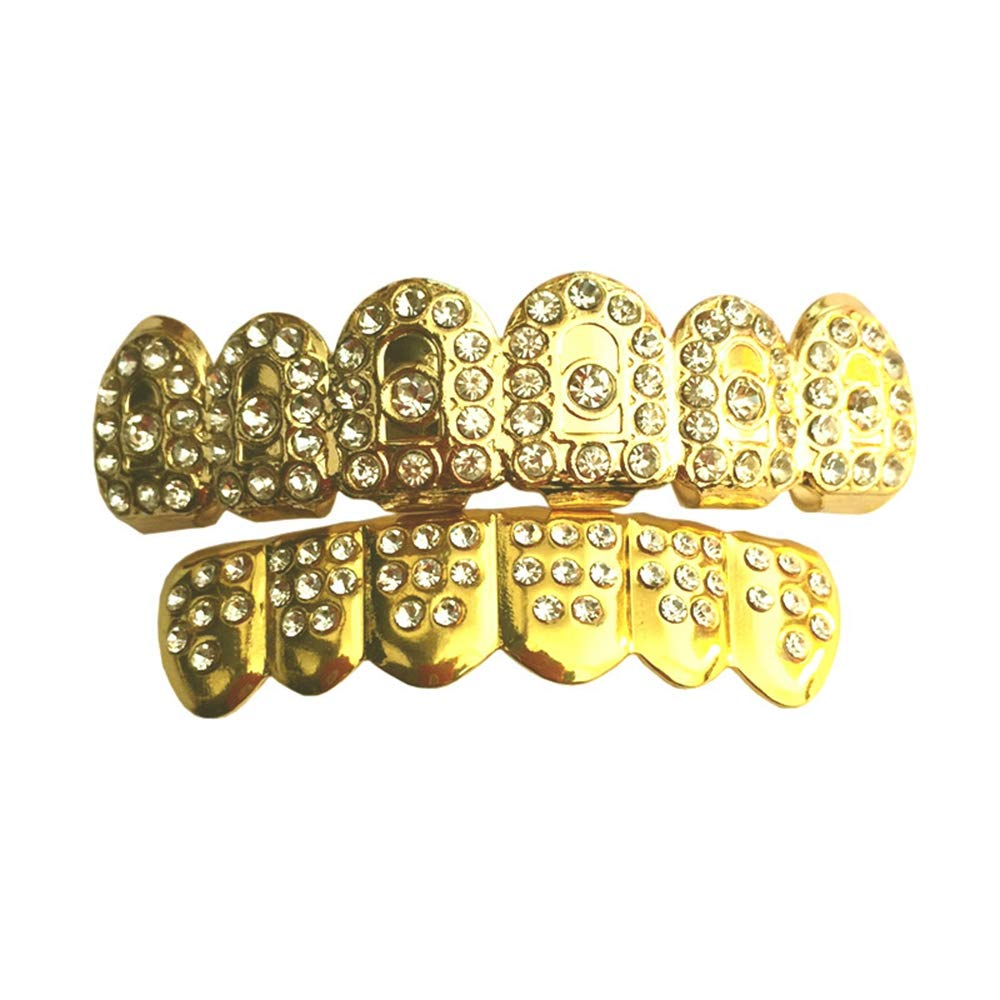 Dentadura Weite Lleno De Diamantes De Oro De Apoyos Dentales Conjunto Hip Hophttps://amzn.to/2YLwdlT