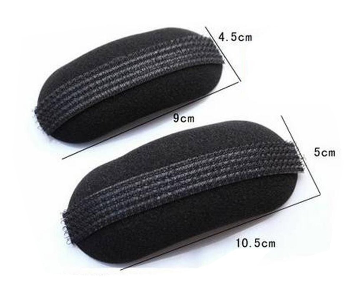 2Pcs Black Volume Hair Bump Tie Up Clip Princess Bum Pit Padding Bun Updo Hair Maker Tool Head Insert Tool Hair Claw Clamps Barrette Pins ASTRQLE