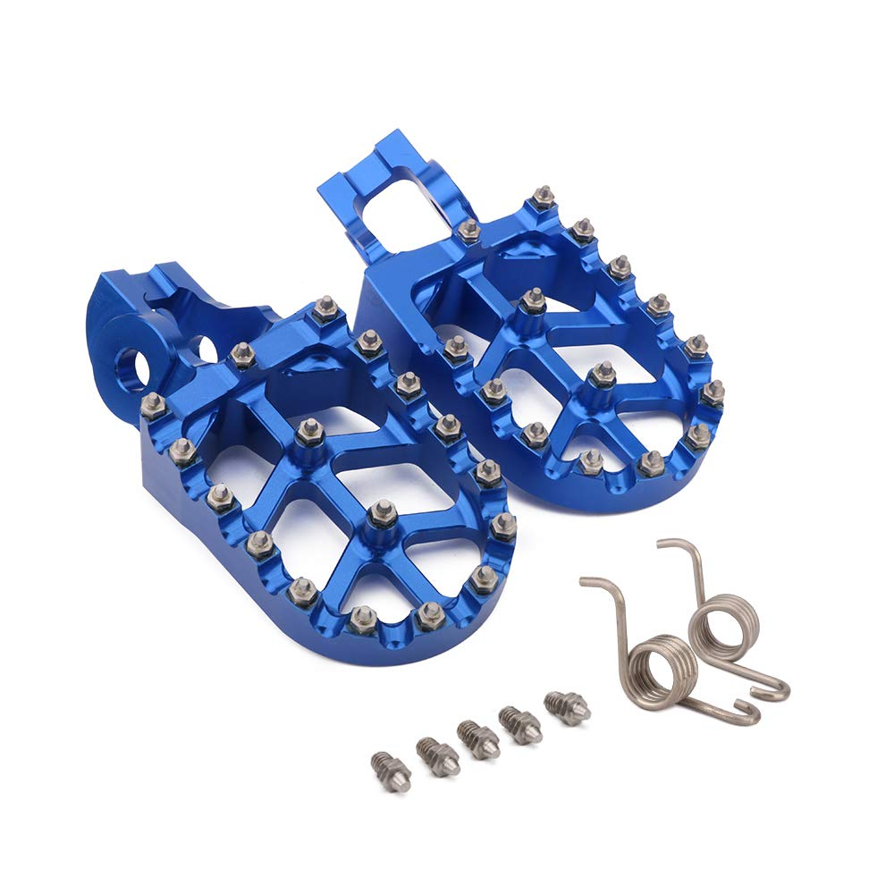 JFGRACING CNC MX Foot Pegs Footpegs Rest Pedals For Husqvarna 2016-2018 TC FC TE FE 85-501 TX FX 125-450 FX450 JFG RACING