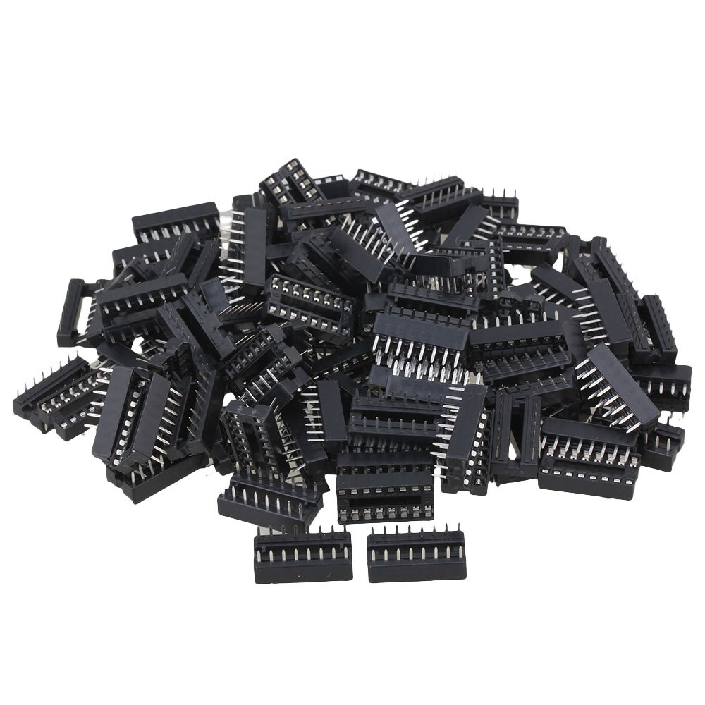 CNBTR Black 16-Pins DIP IC Sockets Adaptor for Integrated Circuit Set of 100 yqltd CNBTR96