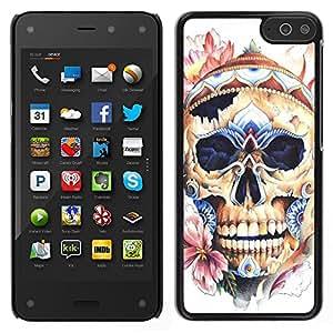LECELL--Funda protectora / Cubierta / Piel For Amazon Fire Phone -- Cráneo floral de la primavera la naturaleza Muerte Pétalo --