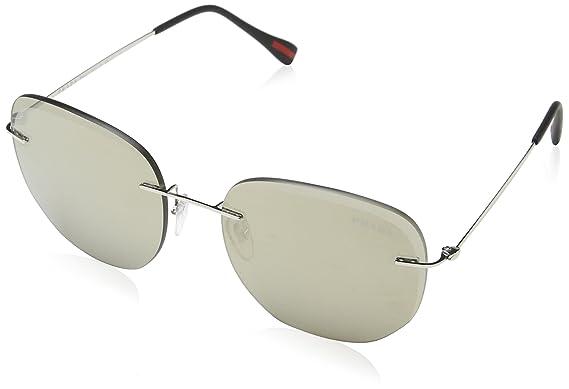 Prada Linea Rossa 0PS 50TS Gafas de sol, Silver, 55 para ...