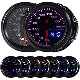 HOTSYSTEM 7 Color Water Coolant Temperature Gauge Kit 40-140 Celsius Pointer & LED Digital Readouts 2-1/16' 52mm Black…