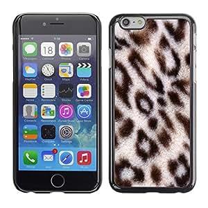 Cubierta de la caja de protección la piel dura para el Apple iPhone 6PLUS (5.5) - africa big cat animal pattern fur