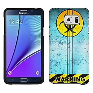 Samsung Galaxy Note 5 Case, Snap On Cover by Trek Bio hazard Warning Case