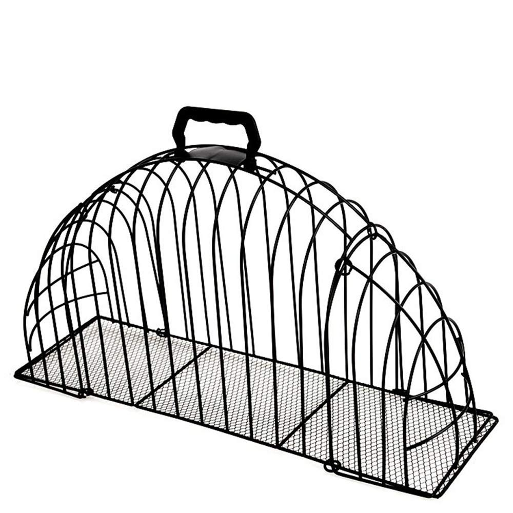 Pet Cat Puppy Shower Cage Multi-Functional Double Door Steel Wire Cats Cage for Injection Anti Scratch Or Bite Washing Bath Helper Tool,M by WXH (Image #1)
