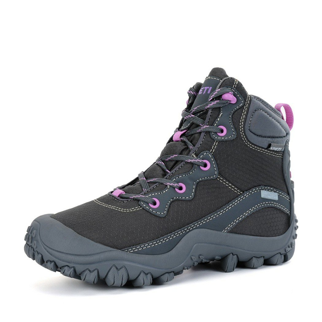 XPETI Women's Mid Waterproof Hiking Outdoor Boot (6 B(M) US, Gray) by XPETI (Image #2)