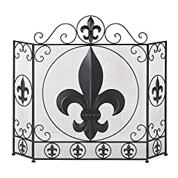 VERDUGO GIFT CO Fleur-De-Lis Fireplace Screen