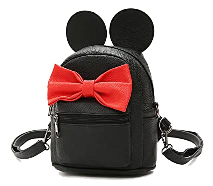 Amazon.com: basilion Kids Cute Lazo nudo Mini Mochila Orejas ...