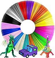AUK 3D Pen Filament Refills,3D Filament PLA 1.75mm,20 Default Colors Each Color 16.4 Feet Total 328 Feet,No Smells...