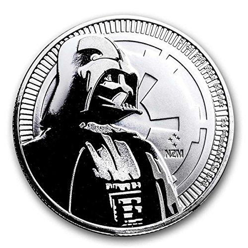 2017 NU 1 oz Niue Silver Star Wars Darth Vader Coin Dollar Uncirculated Mint ()
