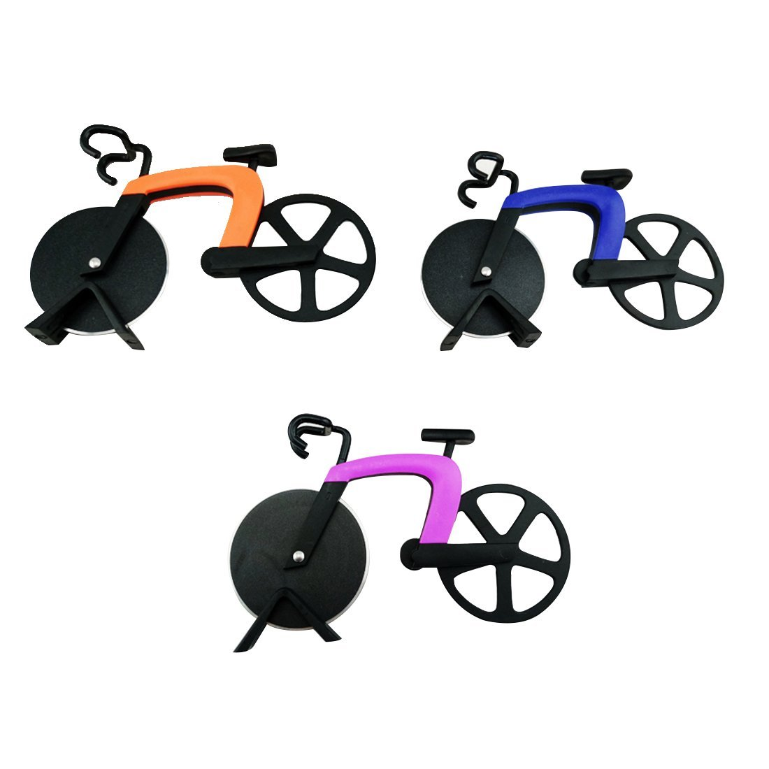 Wall of Dragon Bicycle Pizza Cutter Stainless Steel Bike Pizza Cutter Creative Cooking Tools
