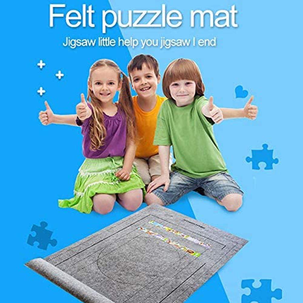 Grau Single Puzzle Roll Up Spielmatte Puzzle Filzmatte Kinder Puzzle Store Mat Puzzle Roll Up Spielmatte zum Bis zu 1500 Puzzleteile,Erwachsene Kinder Zuhause Puzzlespiel Mat Puzzle Roll Mat