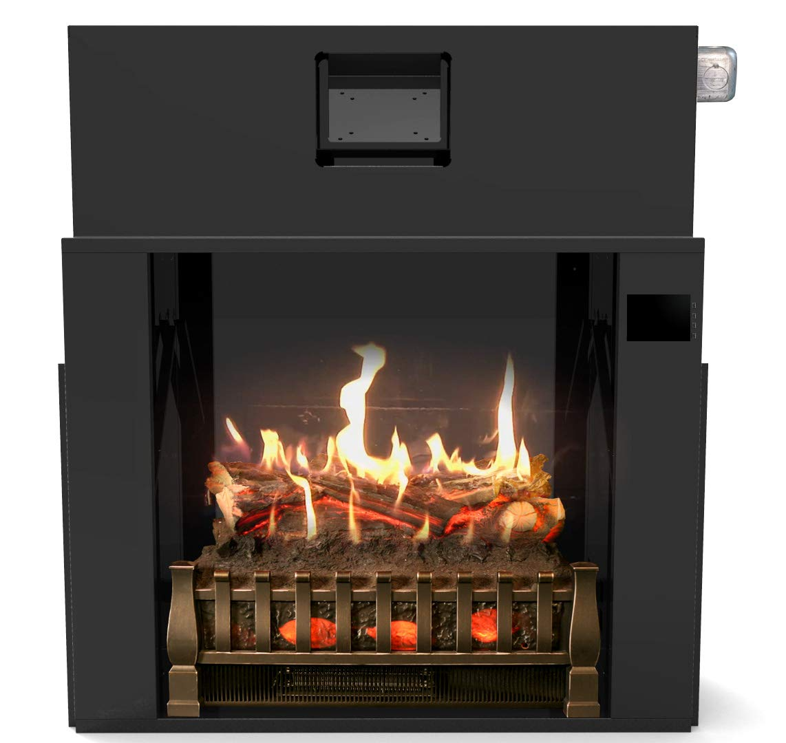 MagikFlame Most Realistic Electric Fireplaces – Premium Firebox Insert – 28 w x 31 t x 12 d – Includes 4,600 BTU Log Set Heater, Crackling Sound, App – Ideal for Family Atmosphere, Ambiance