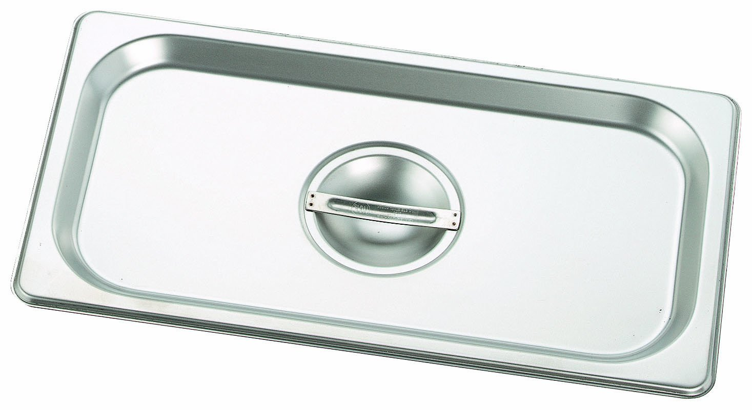 Crestware Commercial, 2330, Solid Flat Steamtable Pan Cover, Two-Thirds Long