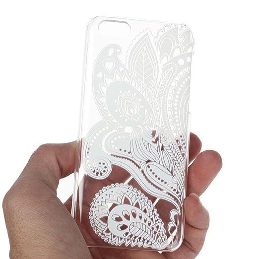 13 opinioni per Sannysis® Bianco Trasparente Carved pattern Caso Vintage duro per iPhone 5C