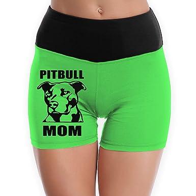 dc5c8c1562301 Amazon.com: OWSDC Pitbull Mom Logo Tummy Control Workout/Yoga/Spandex/Running/Dance/Biker/Compression  Shorts for Women: Clothing
