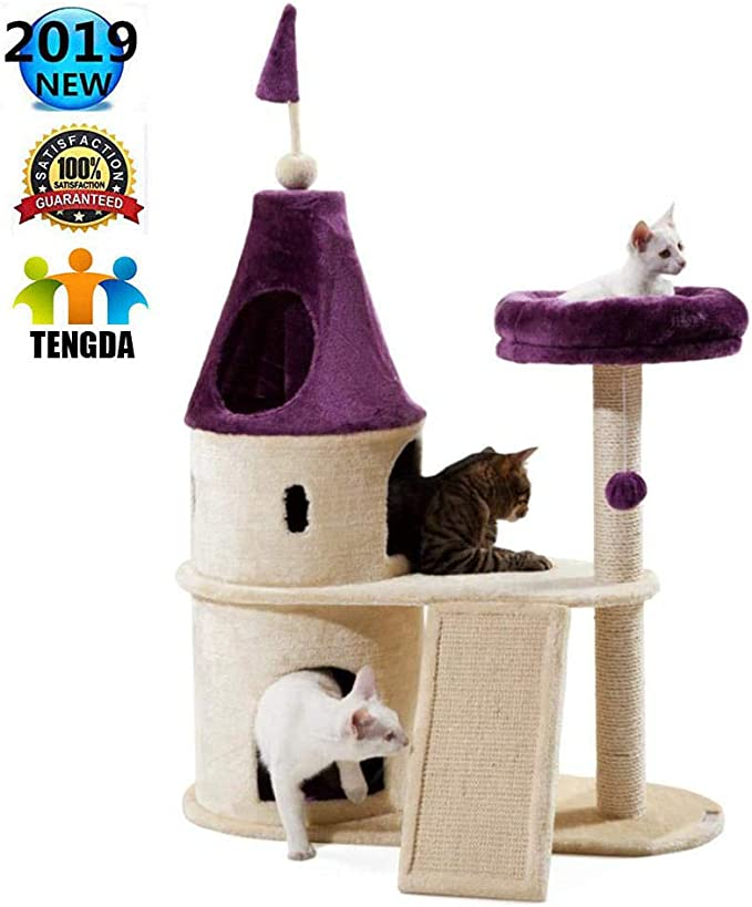 Árbol Para Gato Con Rascador De145CM Arañazo Juguete De Gatos De ...