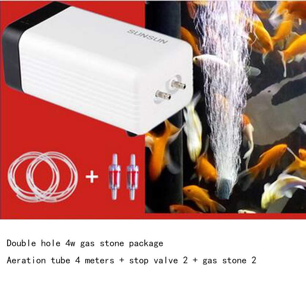 SISHUINIANHUA Silent Oxygen Pump Fish Tank Aeration Pump Fish Aerator Large Household Oxygen Machine Oxygenator Oxygenator,Red by SISHUINIANHUA (Image #2)