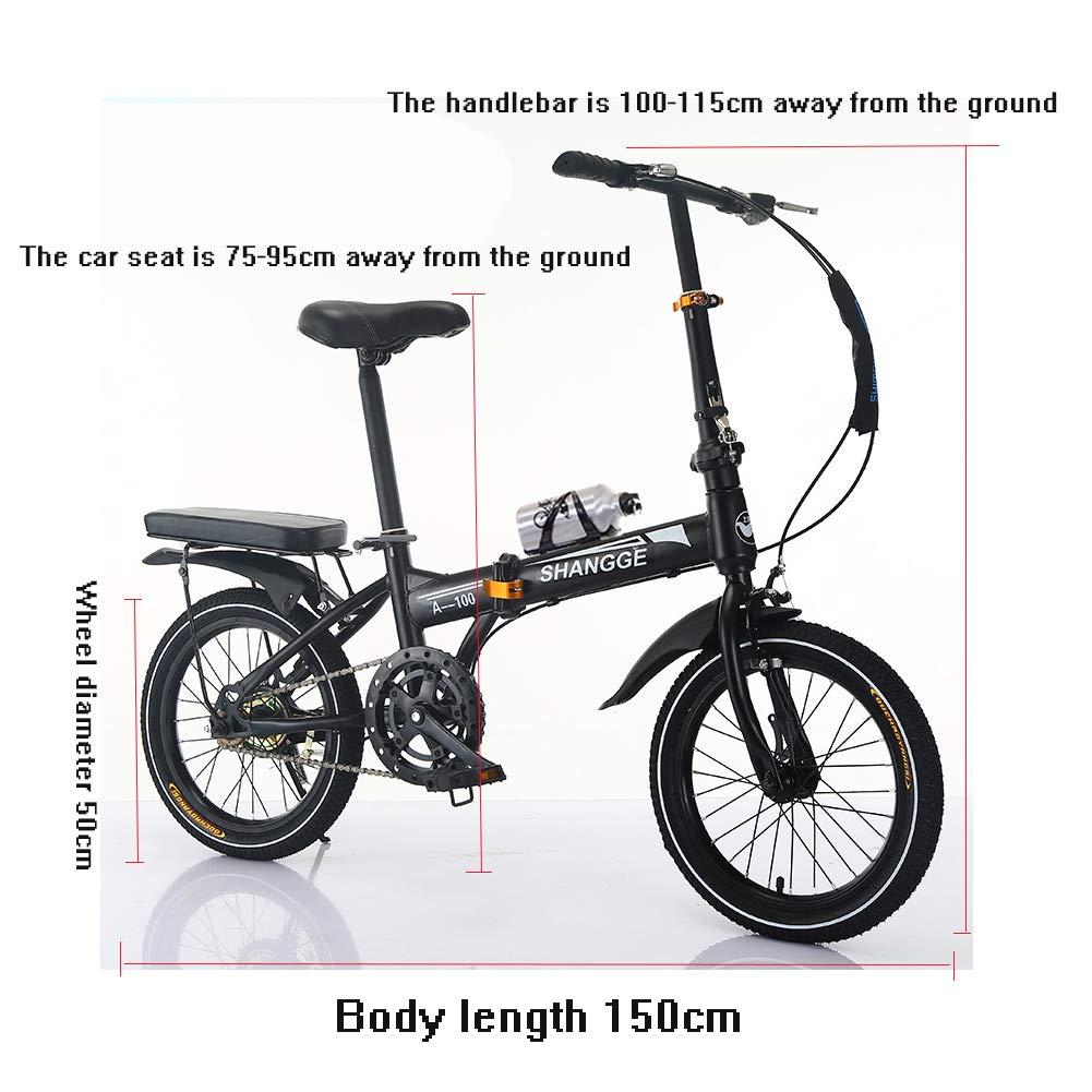 LETFF Bici Plegable de la Bicicleta de la Velocidad Variable del niño del Estudiante de 20 Pulgadas de la Bicicleta Plegable Adulta(White): Amazon.es: ...