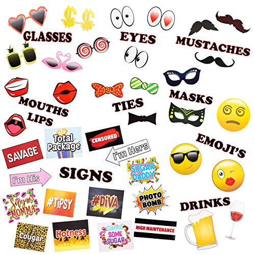 Photo Booth Birthday Party Props 39 DIY Picture Props -