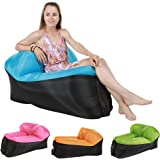 Quickcity Inflatable Lounger Chair Air Couch Waterproof Sofa Camping Chair with Carry Bag for Backyard Lakeside Beach Traveling Picnics & Music Festivals