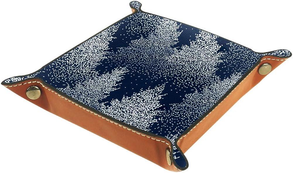 etc Ameli Plateau en cuir avec boucle /à pression pour cl/és monnaie Bleu caf/é t/él/éphone portefeuille montres