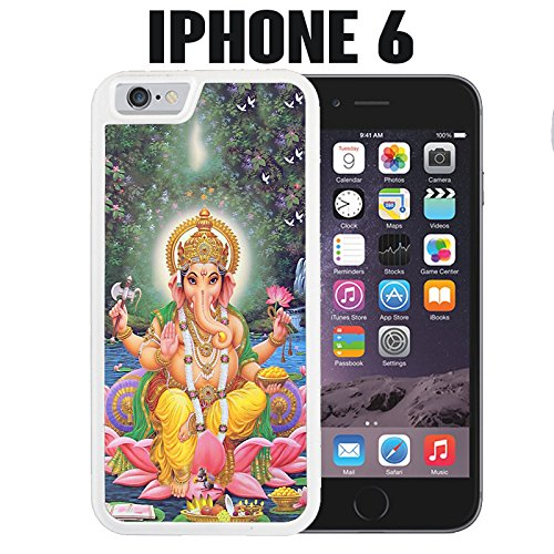 iPhone Case Ganesha for iPhone 6 Rubber White (Ships from CA)
