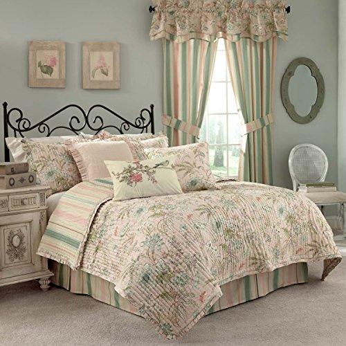 WAVERLY Cape Coral Cotton Quilt Set, Queen,