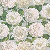 Caspari 9706RC Entertaining with Camellia Garden Silver Continuous Gift Wrapping Paper, 8', 1-Roll, Multicolored