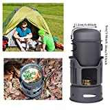 8PCS Camping Backpacking Cookware ,  Lightweight Outdoor Cooking Gear Stove Set ,  Survival Cook Equipment -  Bowl ,  Pot , Pedestal , Burner , Windshield Stand , Dishcloth & Storage Bag For Hiking