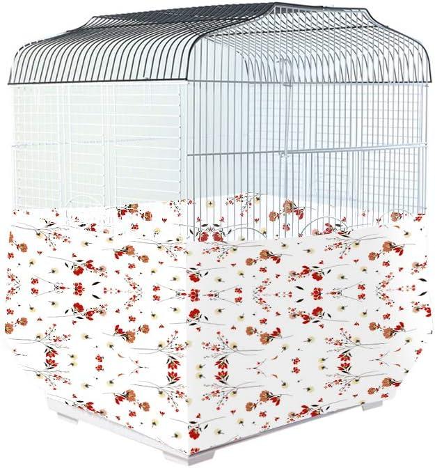 Qchengsan cobertor para Jaula de pájaros, Protector de Semillas y Cohete de pájaros, Cazador de Semillas, Jaula para pájaros, Cubierta Impermeable de poliéster Resistente