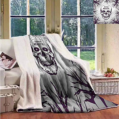 Fleece Blanket Mexican Spooky Gothic Halloween for Family and Friends Weighted Blanket -