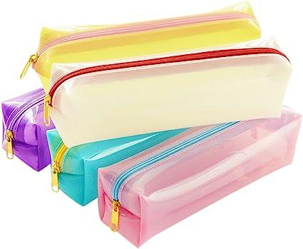 Dosige 6 piezas estuches pequeños lápices estuche estuches escolares niño 21*7*4 cm: Amazon.es: Oficina y papelería
