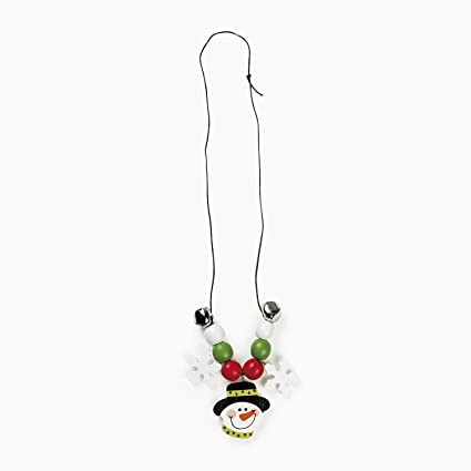 Fun Express 48//5485-D makes 12 Wooden Beaded Snowman Necklace Craft Kit