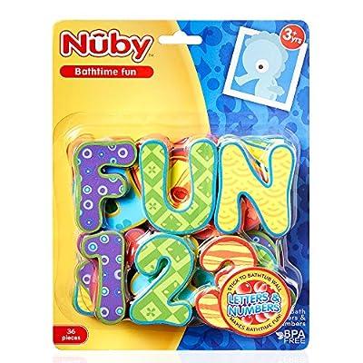 Nuby 36 Piece Bath Tub Alphabet Set : Toy Figures : Baby