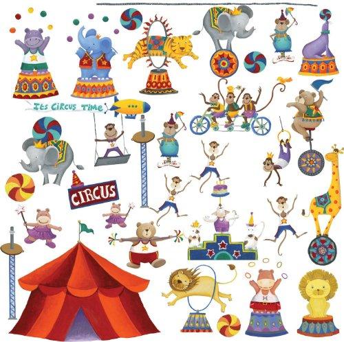 RoomMates RMK1266SCS Circus Stick Decals