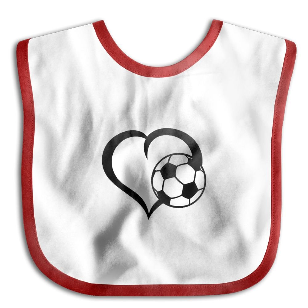Love Soccer Personalized Scarf Bib Feeding /& Teething Fancy Baby Bibs and Burp Cloth Polyester Cotton