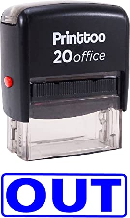 Printtoo E-MAILED Self Inking Rubber Stamp Office Stationary Custom Stamp-Blue