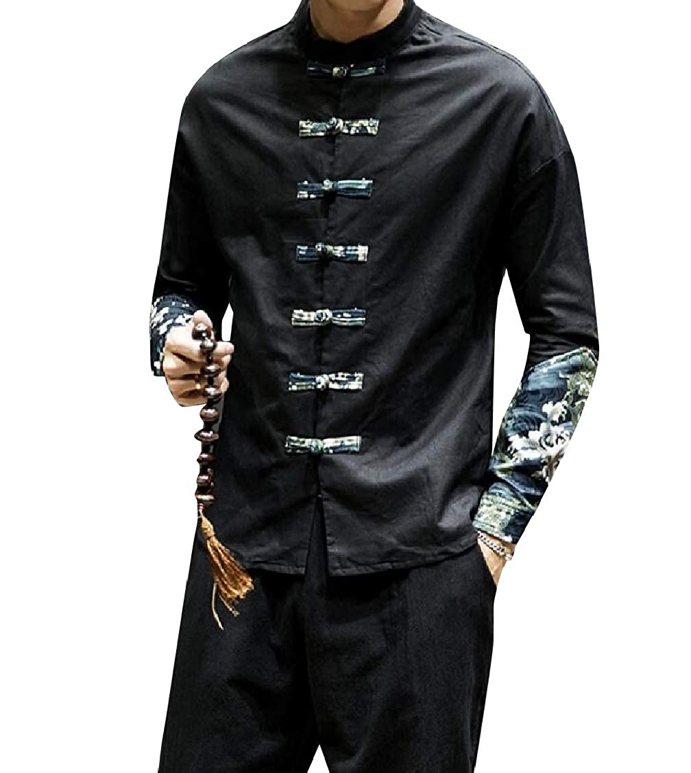 Coolred-Men Ethnic Style Plus Size Geometrical Printed Tshirt Shirt