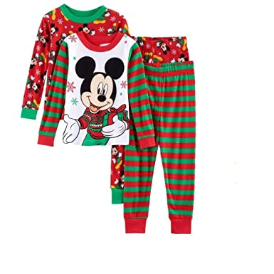 ame disney mickey mouse toddler boy 4 pc christmas pajama set 4t - Mickey Mouse Christmas Pajamas