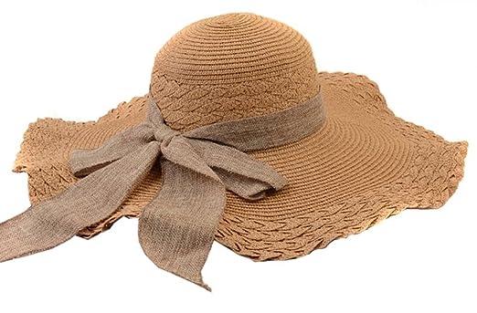 5 opinioni per TININNA pieghevole Bowknot cappello del sole spiaggia cappello di estate marrone