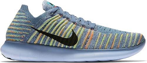 Nike Free Rn Motion Flyknit 2019 Damen Laufschuhe Blau