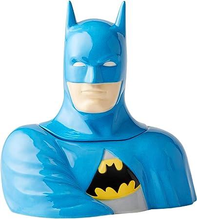 Enesco DC Comics Ceramics Batman Cookie Jar Canister, 10.75 Inch, Multicolor